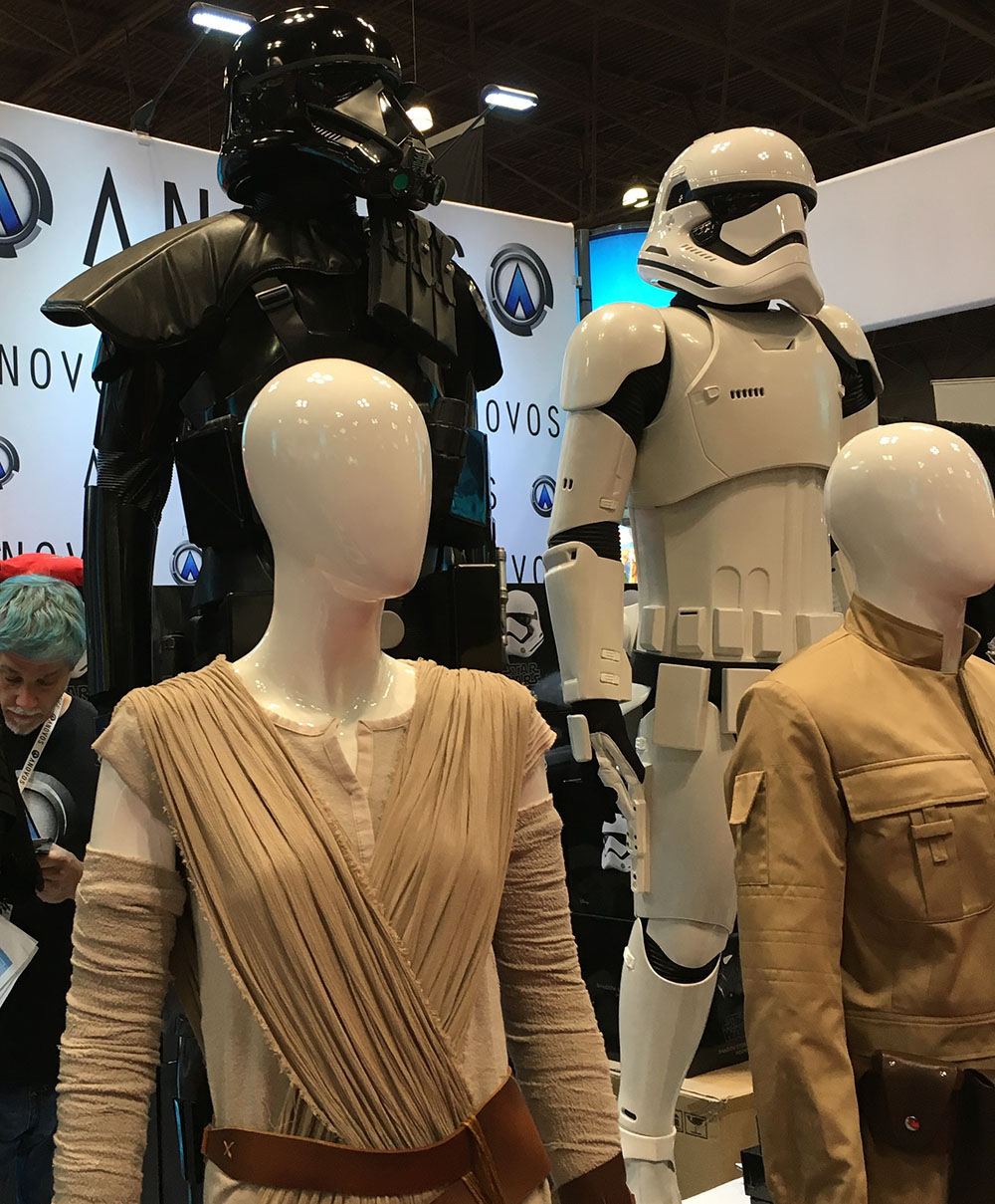 Costumes from Star Wars at Comicon New York